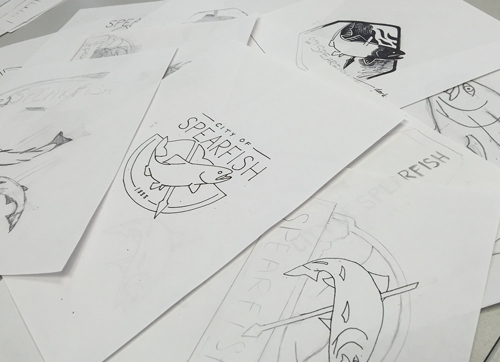 City of Spearfish logo sketches