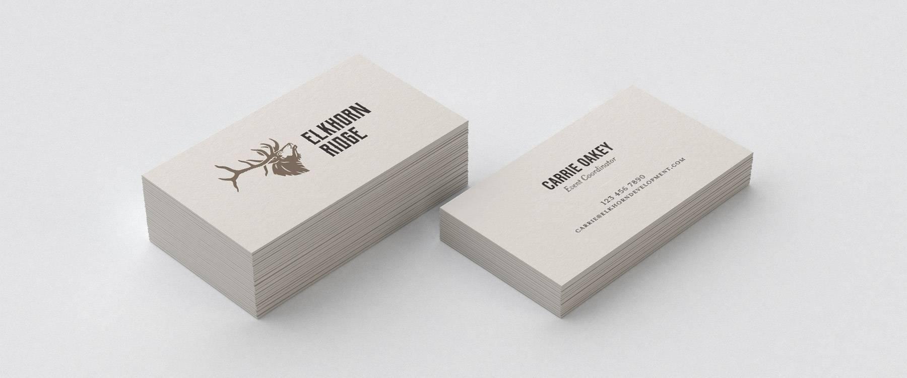 Elkhorn Ridge business cards