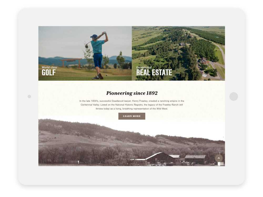 Elkhorn Ridge Homepage introduces golf, real estate and history