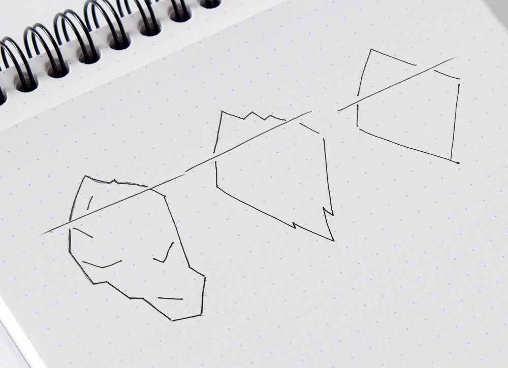 Iceberg Solutions logo sketches