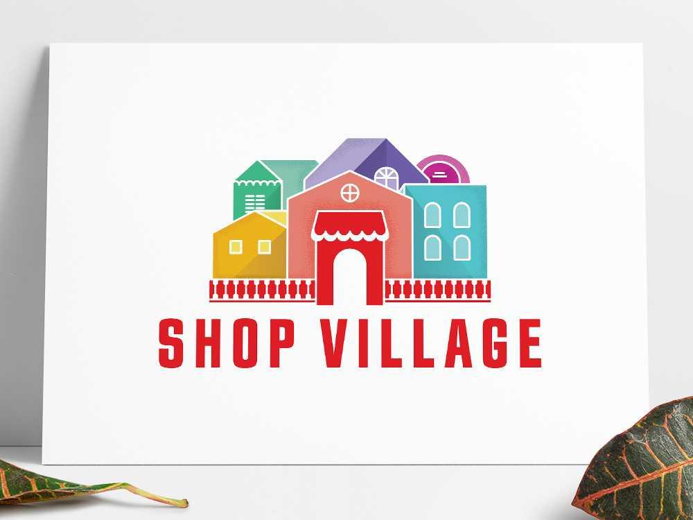 Shop Village Logo on card