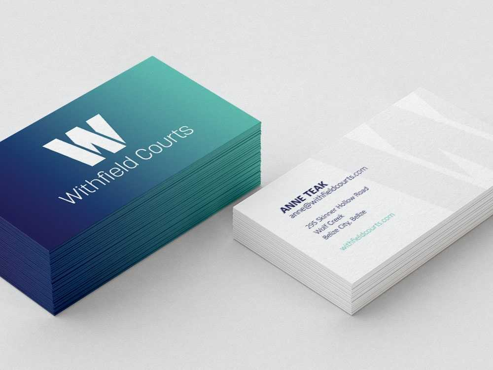 Withfield Courts business cards