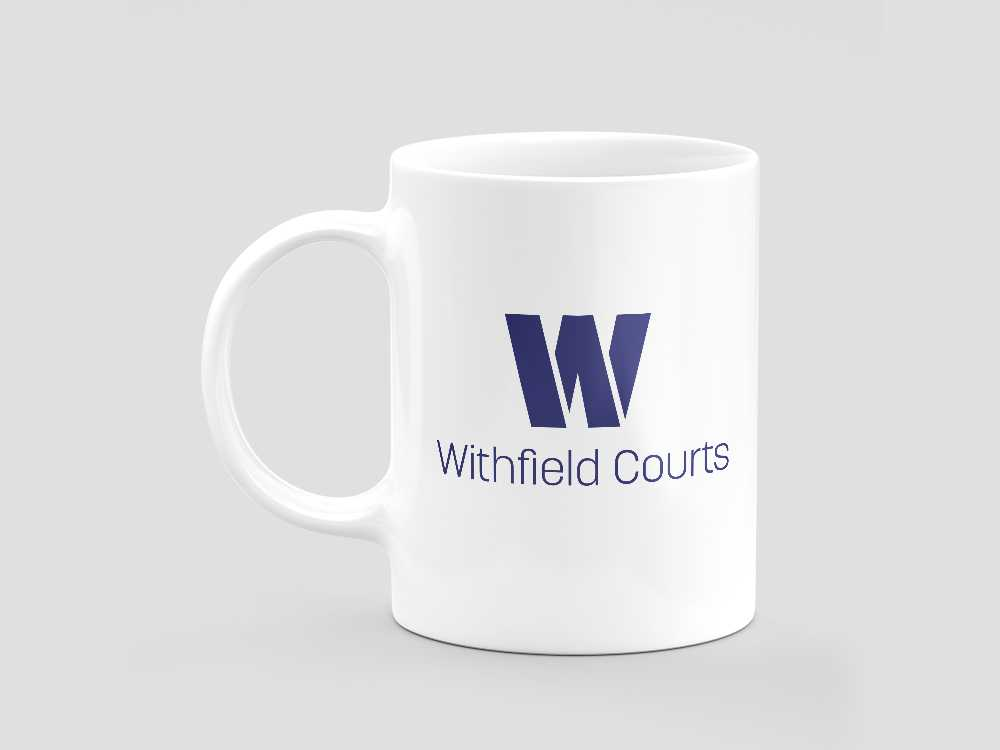 Withfield Courts logo on mug