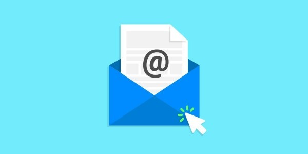 Email Marketing Top Image of mouse cursor clicking on envelope with a letter inside