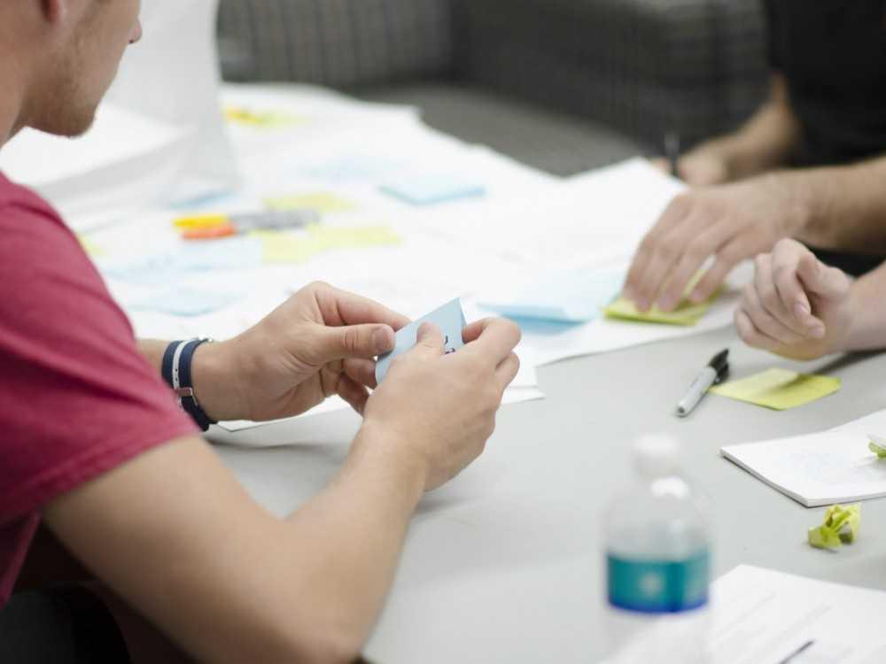 Team members planning