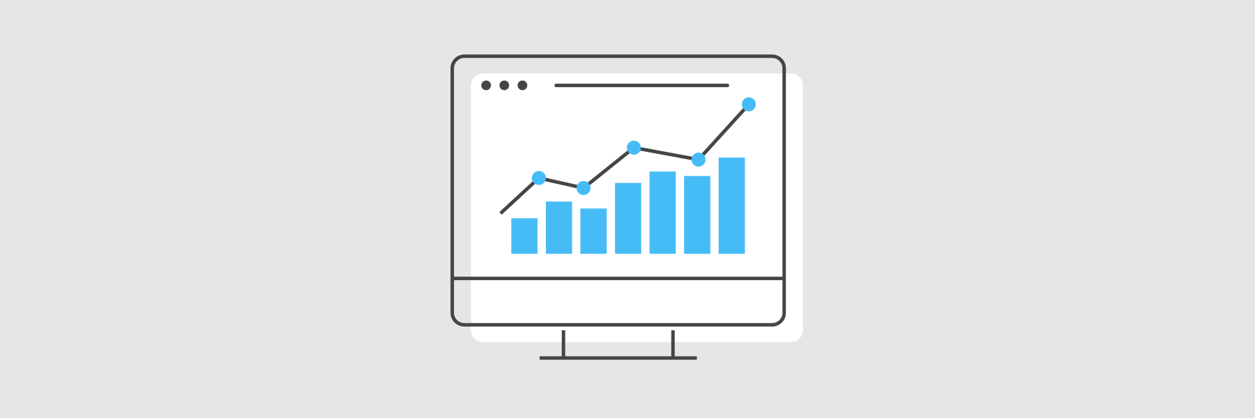 Digital Designs - desktop icon with increasing chart graphic
